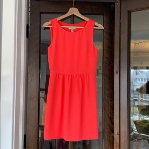 JCrew Bright Coral Like New Shift Dress